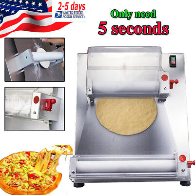 Automatic Pizza Bread Dough Roller Sheeter Machine For 0.5-5.5mm Thickness Pizza