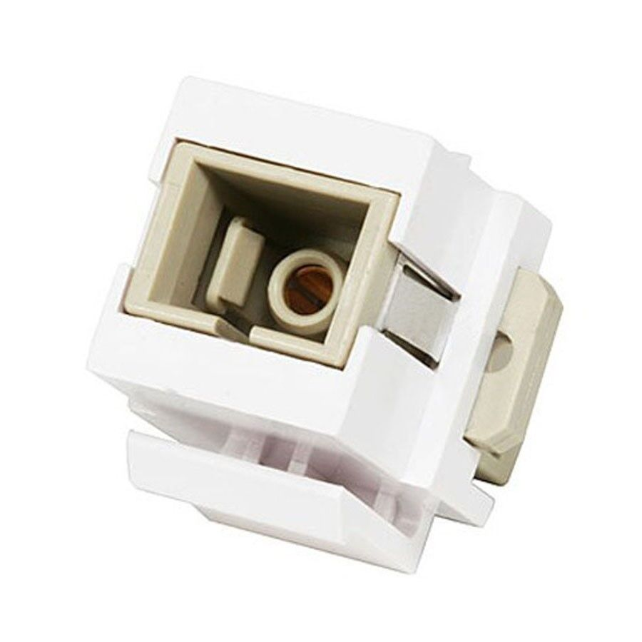 LC Optic Fiber Network Coupler Snap-In Jack F//F White for Keystone Wall Plate