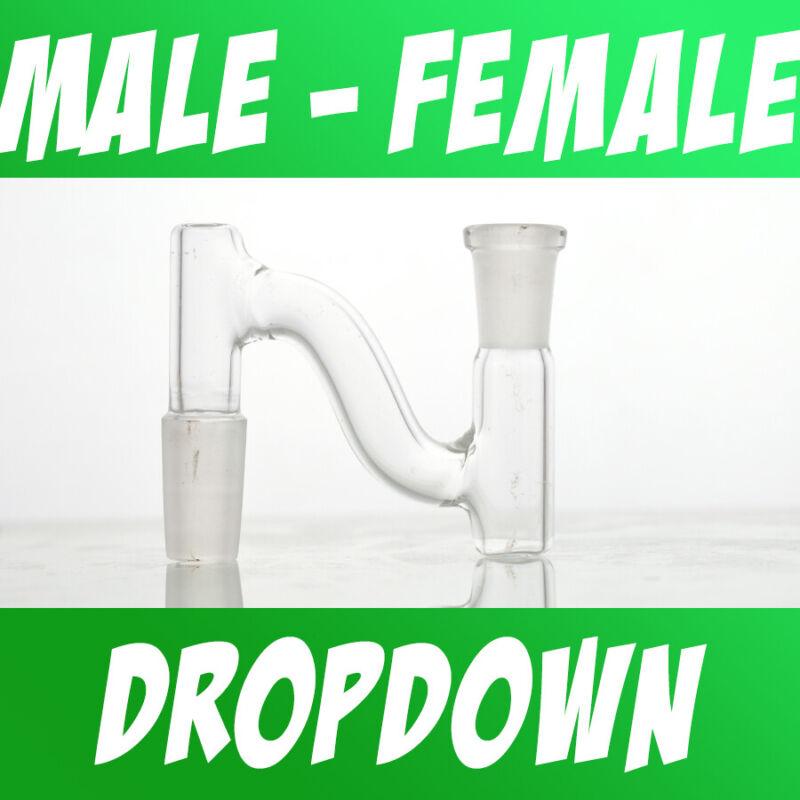 Scientific Lab Glass Dropdown Drop Down Adapter Male to Female 10mm 14mm 18mm