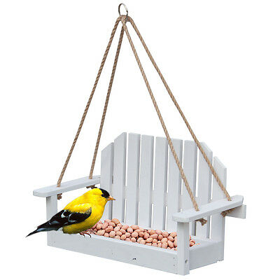 "15"" x 8"" Garden Treasures Hanging Outdoor Wood-Platform-Bench (Bird-Seed Feeder)"