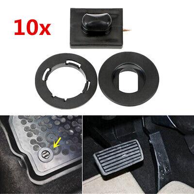 Black Car Floor Carpet Mat Clip Foot Liner Trim Buckle Lock Fastener Retainer 10