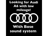 Looking for Audi A6 with low mileage (from 2012year)