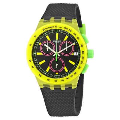 Swatch Yel-Lol Chronograph Black Dial Men's Watch SUSJ402