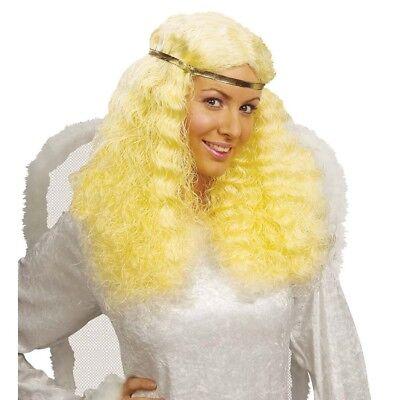 BLONDE ENGELSPERÜCKE # Weihnachten Engel Meerjungfrau Perücke Damen Kostüm 6136