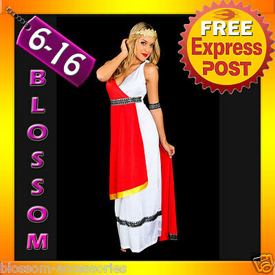 E64 Ladies Roman Toga Robe Greek Goddess Fancy Dress Halloween Party Costume