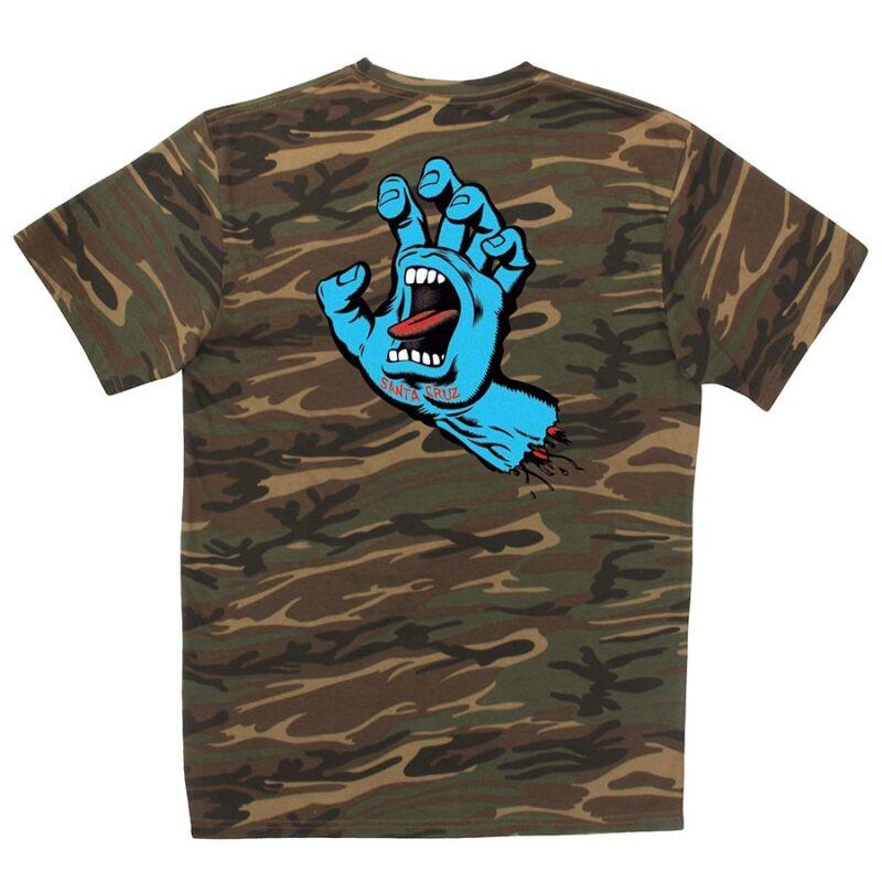 Santa Cruz SCREAMING HAND Skateboard T Shirt CAMO XL