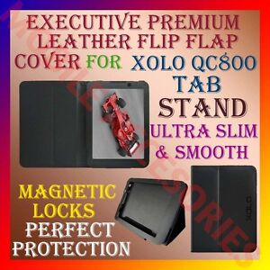 EXECUTIVE-LEATHER-FLIP-FLAP-CASE-for-XOLO-QC800-8-FRONT-BACK-COVER-STAND