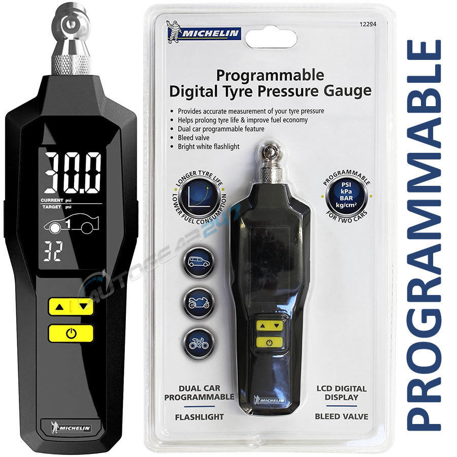 Michelin 12294 Programmable Digital Car Van Tyre Pressure