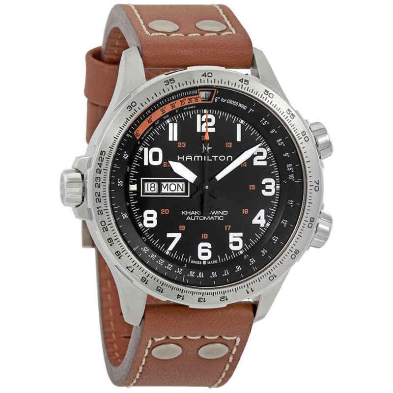 Hamilton Khaki Aviation X-Wind Automatic Black Dial Men Watch H77755533