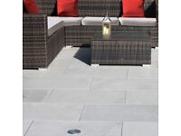 BRAND NEW 30m2 Natural Paving Company Platinum Grey Sandstone Paving Slabs 600mm x 900mm RRP £1,290