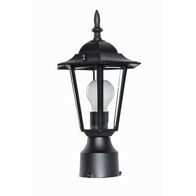 - Maxim Builder Cast 1-Light Outdoor Pole/Post Lantern Black - 3001CLBK