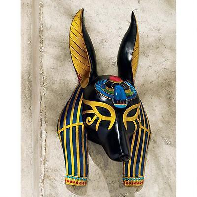 Ancient Egyptian Jackal God of Afterlife Anubis Wall Mask Sculpture (Egyptian Jackal Mask)