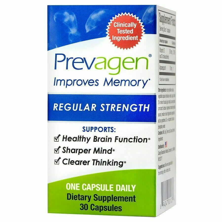 Prevagen Regular Strength Bioscience Improves Memory 30 Capsules NEW - $29.95