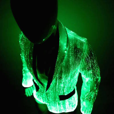 LED Fiber Optic Clothing Light Up Prom Jacket for Men Party Stage Blazer - Led Light For Clothing