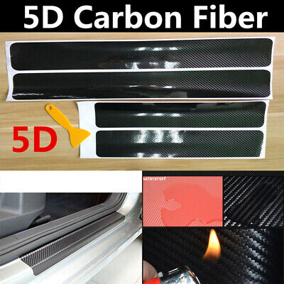 Accessories Carbon Fiber Car Door Plate Sill Scuff Cover Anti Scratch 5D Sticker