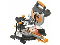 EVOLUTION RAGE 3 CROSS CUT MITRE SAW AND POWER TOOL BENCH