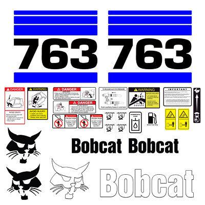 Bobcat 763 Skid Steer Set Vinyl Decal Sticker - 25 Pc