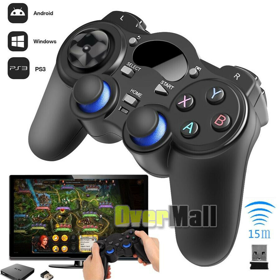 Details about 2X Wireless Bluetooth USB Game Controller Gamepad Joystick  for Android TV Box PC