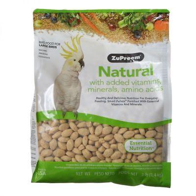 ZuPreem Natural Blend Bird Food for Large birds including Parrots in 3 lb. bag