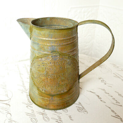Milchkanne Zinkkanne Blechkanne Kanne Vase Kupfer Grünspan Landhausstil vintage