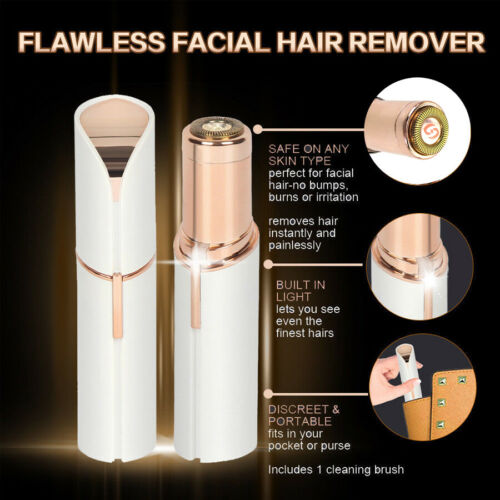 Flawless Skin Women Painless Hair Remover Face Facial Finish