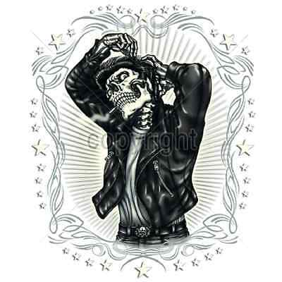 Skull Greaser Leather Jacket T Shirt Men Sizes & Colors New (974) - Leather Jacket Greaser