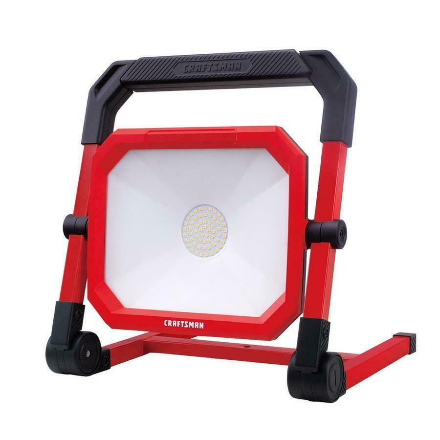 CRAFTSMAN 4500-Lumen LED Portable Work Light Slim Folds Flat