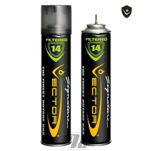 Vector 14x Filtered Premium Refined Fuel Butane Gas Refill 320mL