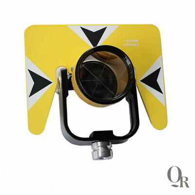 Yellow Color Single Prism With Bag For Topcon Sokkia Total Station Surveying