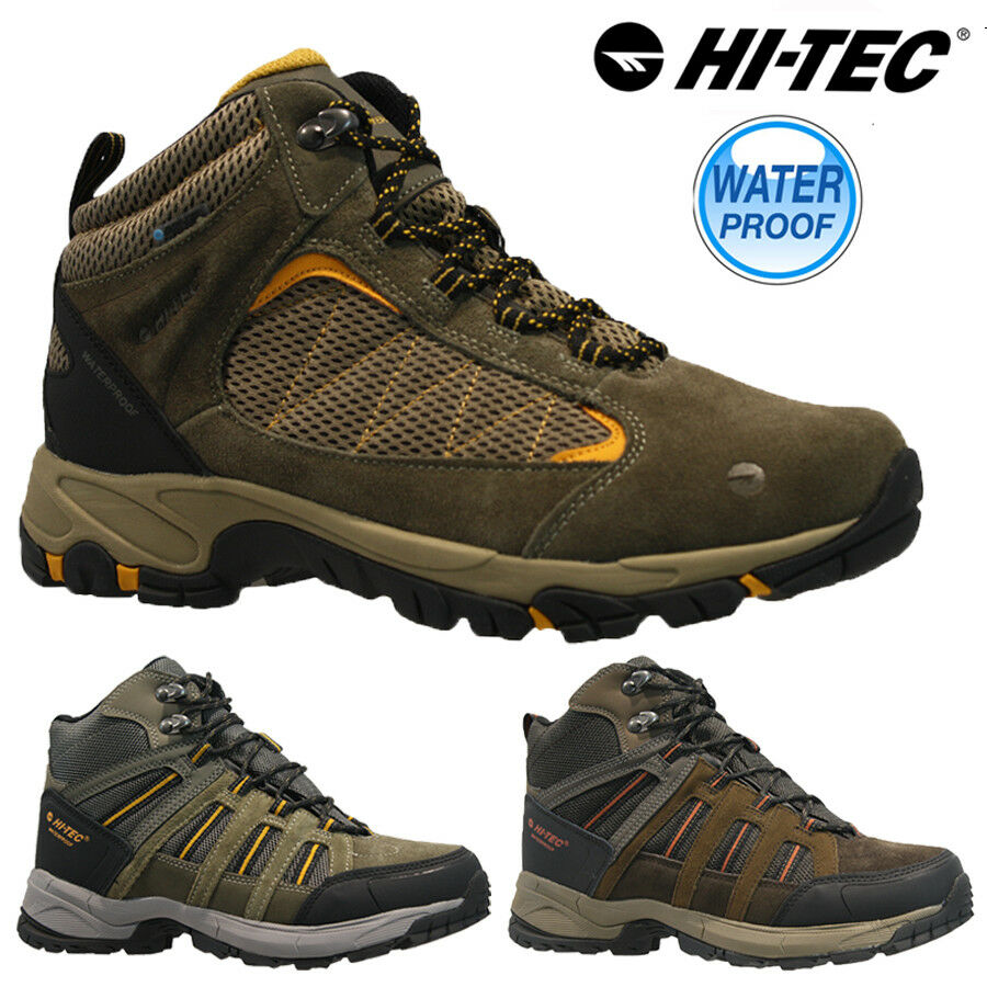 MENS HI TEC OUTDOOR WALKING HIKING WATERPROOF ANKLE BOOTS TRAINERS SHOES SIZE
