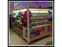 Retail Merchandising Slatwall Display Unit RMU Kiosk for Shopping Centre