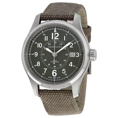 New Hamilton Khaki Field Men's Canvas Strap Watch H70595963