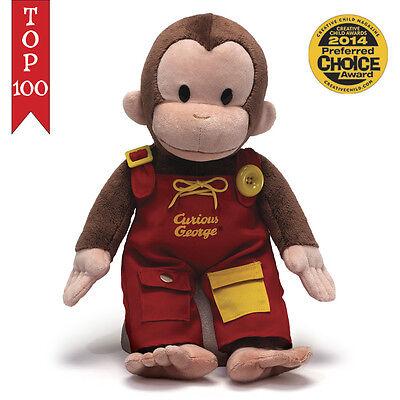 "Curious George Teach Me Dressing Skills 16"" Inch Plush # 4042871 Gund NWT"