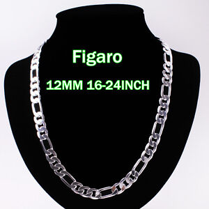 Wholesale 4-12MM Solid Silver Jewelry Lady/mens925 Silver Necklace Silver Chain