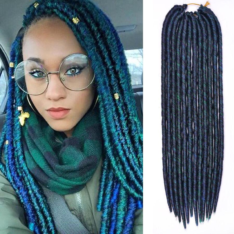 18u0026quot; Green Havana Mambo Faux Locs Braids Crochet Dreadlock Braids Hair Extension | EBay