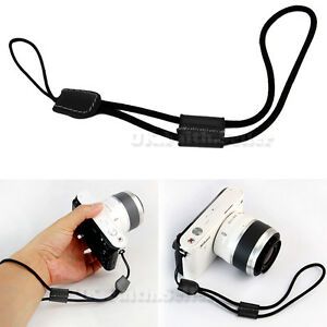 camera nylon hand wrist strap with leather for canon nikon