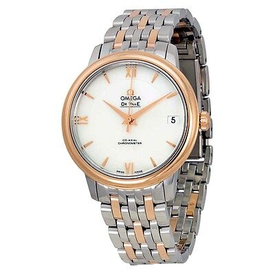 Omega De Ville Automatic Mother of Pearl Dial Stainless Steel and 18kt Rose