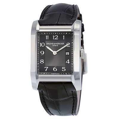 Kyпить Baume and Mercier Black Dial Leather Strap Mid Size Watch 10019 на еВаy.соm