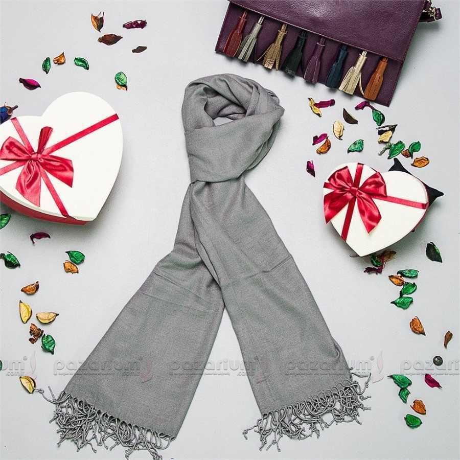 SALE Neu Damen Grau Silber Schal Halstuch Tuch Überwurf Kopftuch Damenschal uni