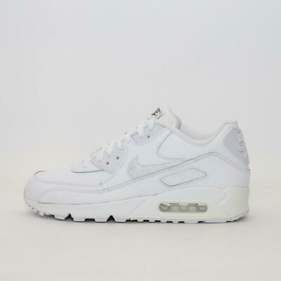 Junior Nike Air Max 90 Leather (GS) White/Grey (NF1) RRP £79.99