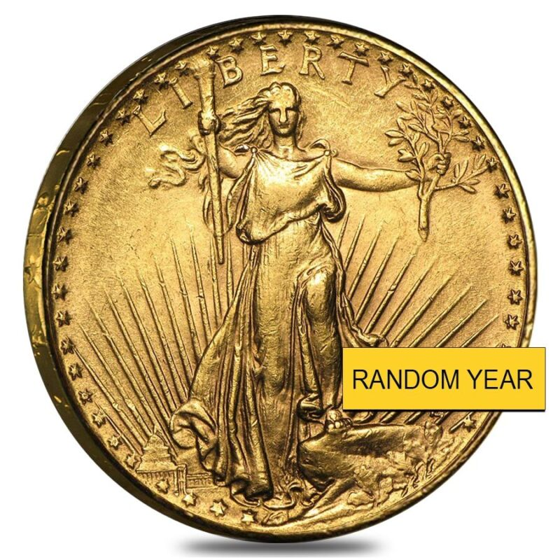 $20 Gold Double Eagle Saint Gaudens - Polished Or Cleaned (random Year)