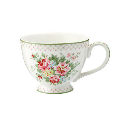 Greengate Tasse Teetasse Tea Cup Aurelia white Blumen Vintage Landhaus Shabby