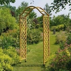 Gardman fsc elegance wooden garden arch