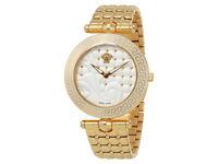 Brand New Versace Women's VQM060015 Vanitas Micro Analog Display Swiss Quartz Gold-Tone Watch