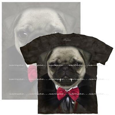 Pug Puppy Dog Vampire The Mountain Hand Dyed Tie Dye Black T Shirt Medium SALE](Vampire Puppy)