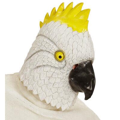 LATEX KAKADU MASKE Kakadumaske Vogelmaske Papagei Kostüm Party Hawaii Deko 96637 (Latex Maske Vogel)