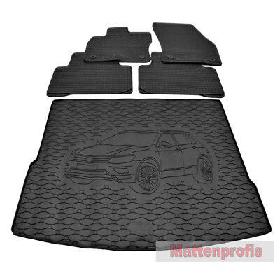 Gummi-Fußmatten+Kofferraumwanne VW TIGUAN I 2007-2015