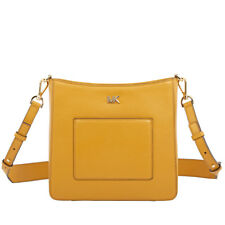 Michael Kors Gloria Leather Messenger Bag- Marigold 30F8GG0M2L-706