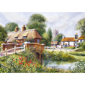 Heart of the Village Scene Jigsaw Puzzle 500 Extra Large Pieces - Terry Harrison