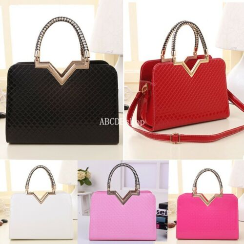 Designer Fashion Womens Leather Style Tote Shoulder Bag Handbag Ladies